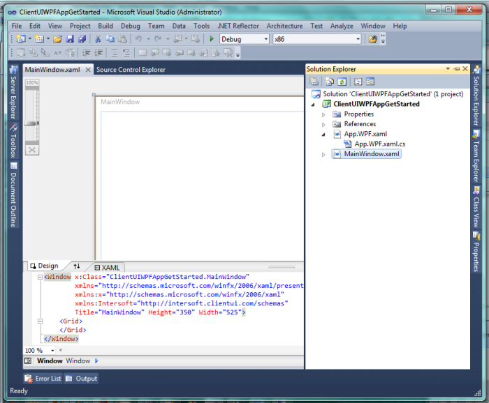Walkthrough: Create Your First ClientUI Application for WPF